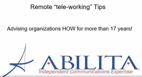 Remote Tele-Working Tips